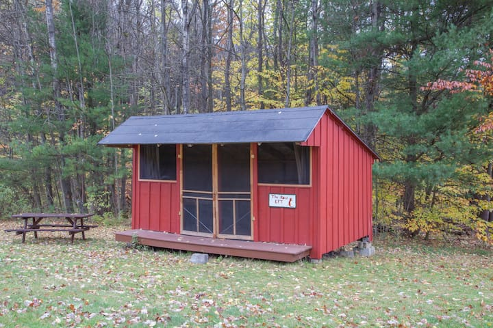Rustic Camping Cabin 2 w/access to 20 miles trails - Freeville - Cabane