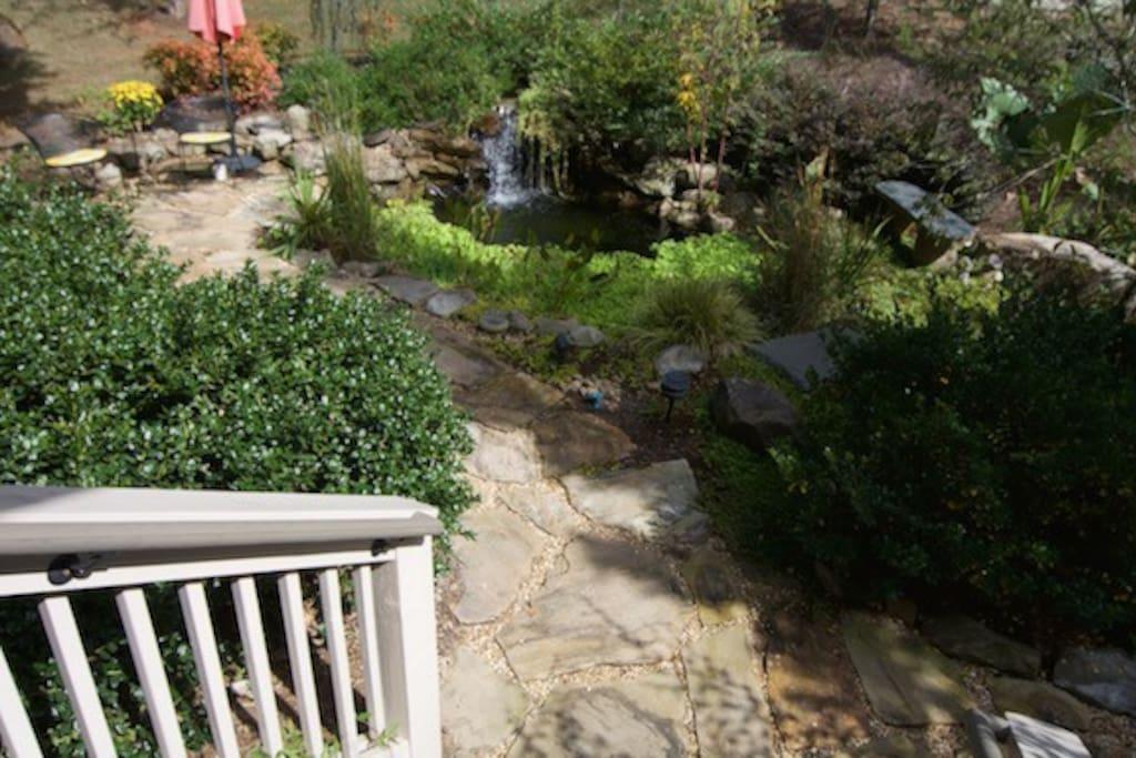 Water Garden & front entrance