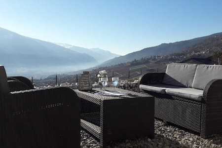 Au calme, avec vue imprenable sur les Alpes... - Miège - Haus