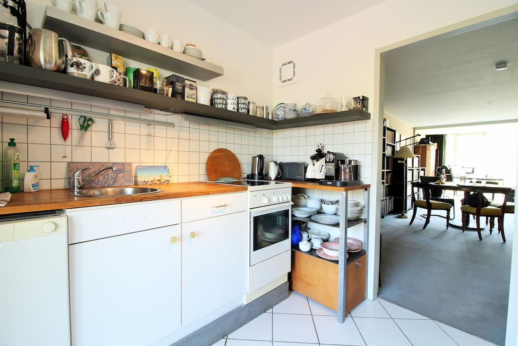 The kitchen is modern and fully equipped with everything you'll need for the preparation of home cooked meals.