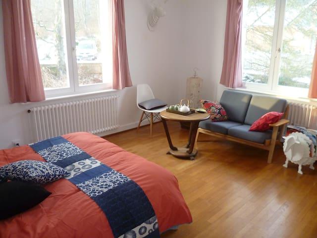 Chambre double avec salle de bain - Offemont - Casa