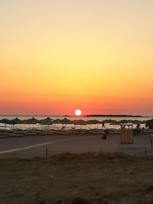 sunset of falassarna!