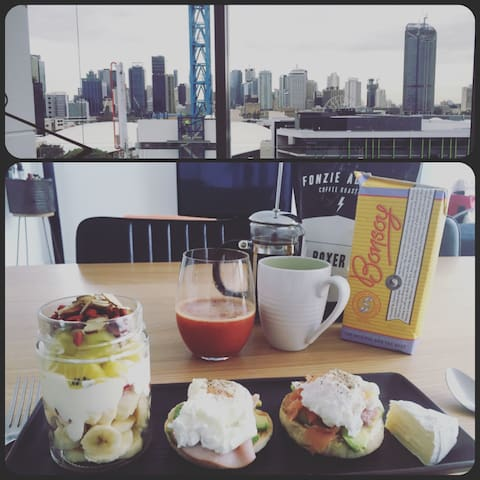 Stylish appartment, city view in perfect location - South Brisbane - Appartement