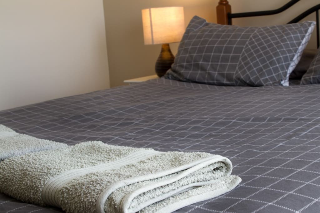 Towels and linen provided