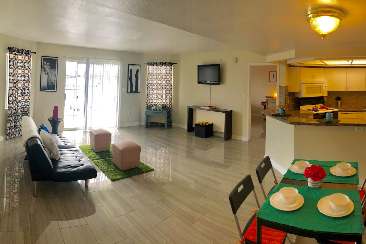Living, Kitchen, and Dining