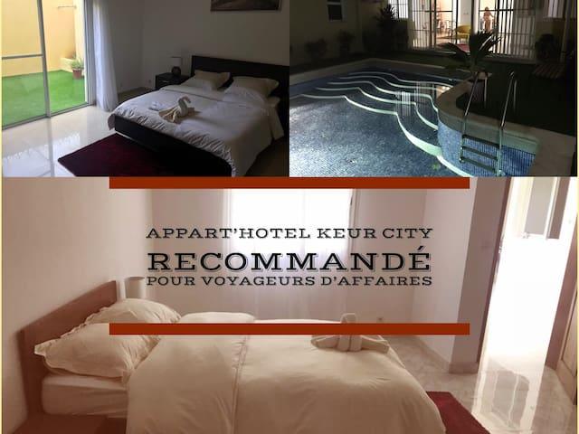 Keur City-chambre priv. n2 avec services hôteliers
