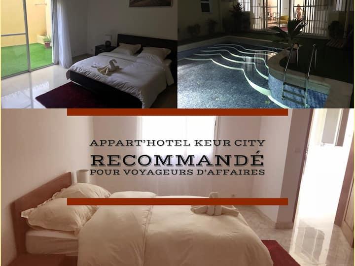 Keur City-chambre priv. n3 avec services hôteliers