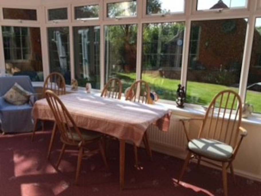 Sunny conservatory for breakfast and relaxing