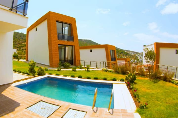 Brand new modern villa with private pool and yard