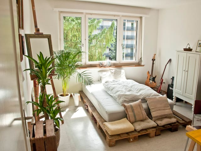 Bright room in stylish apartment - Zürich - Lakás