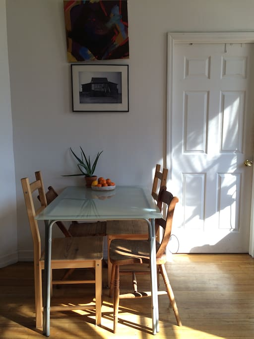Sunny mornings at the kitchen table.