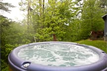 Hot tub operates all year.