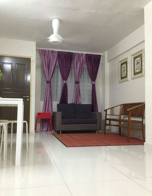 Living Hall with 2 ceiling fan