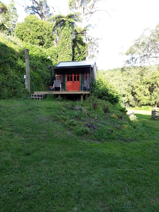 Overlooking the orchard area - The Cozy Cottage - a short walk to shared facilities