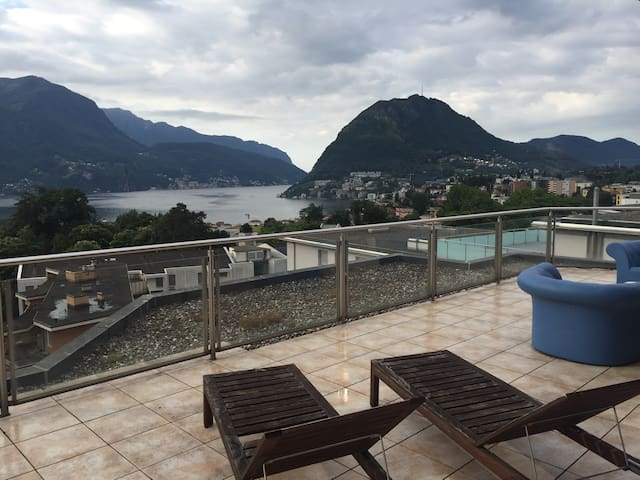 Luxury flat with amazing lake view - Massagno - Apartamento