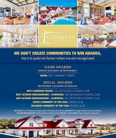 Coastal Club - Awarded Community of the Year for Sussex County and the State of Delaware