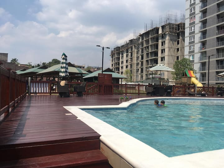 Apartamento económico vacacional con piscina