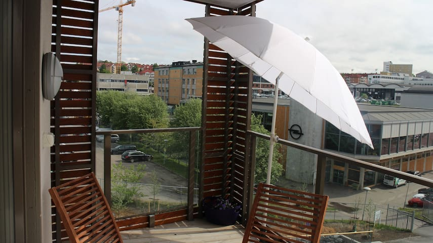 Modern 1 bed flat overlooking park in Central Oslo