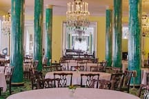 The Greenbrier Main Dining Room is across the street. Fine dining at its best.