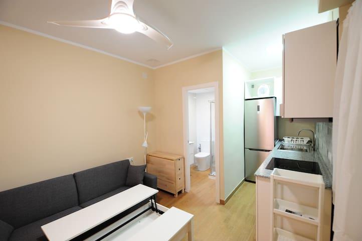 Habitación1/estudio con cocina y baño independient