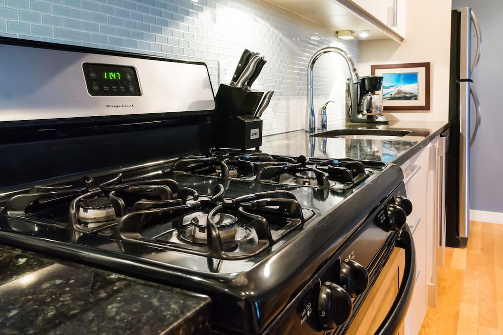 Stove and counters