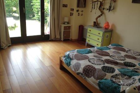 Grande chambre avec jardin et sdb proche Annecy - Appartement