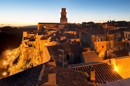Attico panoramico nell'antico borgo - Pitigliano