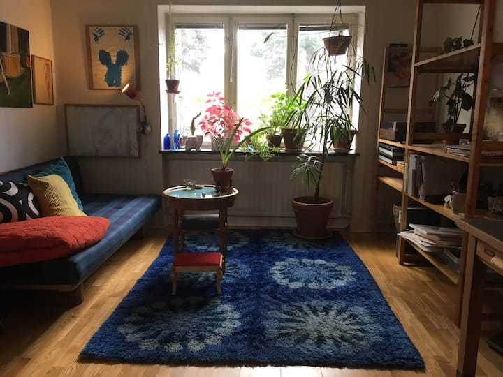 Apartment south of Stockholm, cosy atmosphere