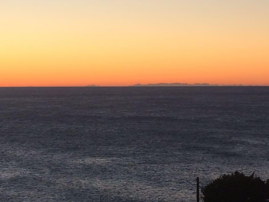 Vue sur la Corse