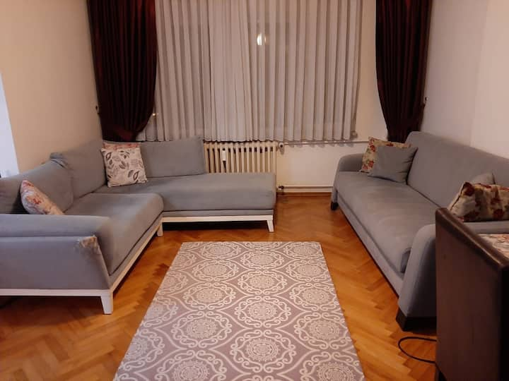 Furnished clean flat has WIFI! central&silent area