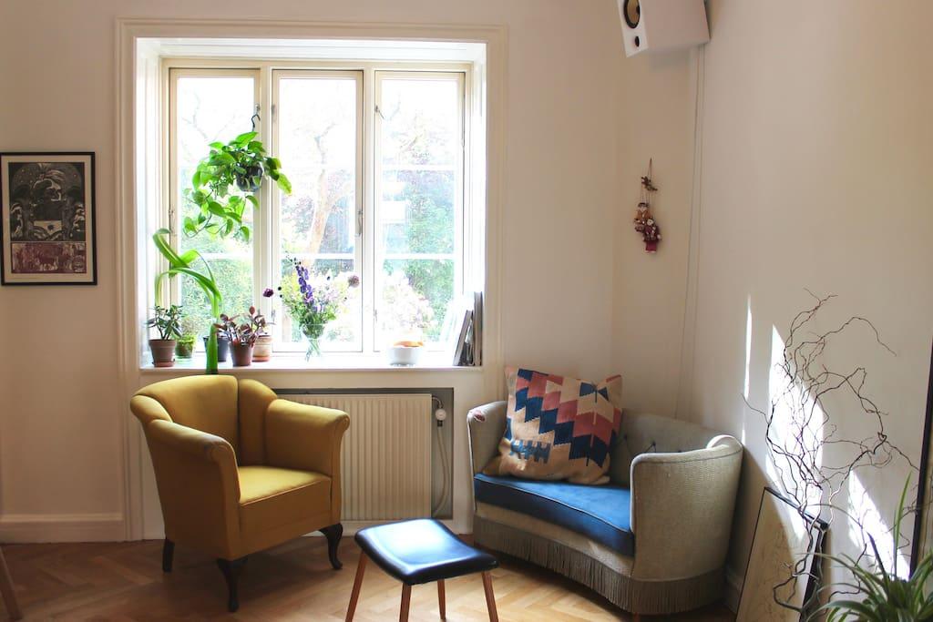 Cozy corner in living room