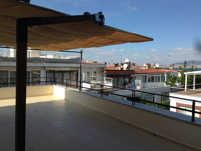 Huge sunny terrace provides ample playground