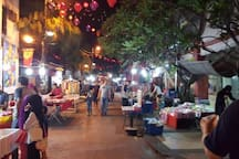 Local night market at Jalan Tan Hiok Nee (5-10 mins walking distance)