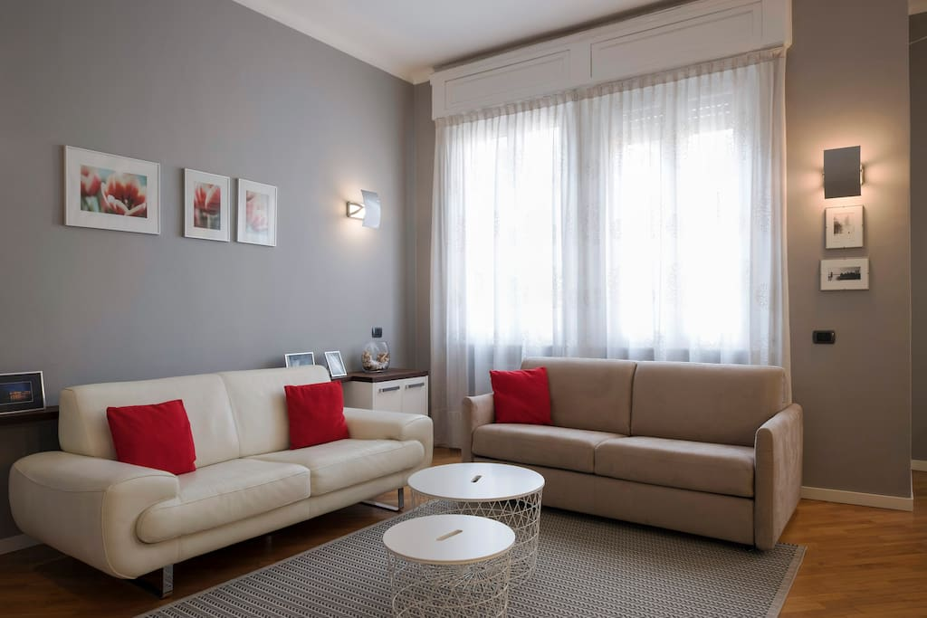 The living room with spacious bed sofa x2