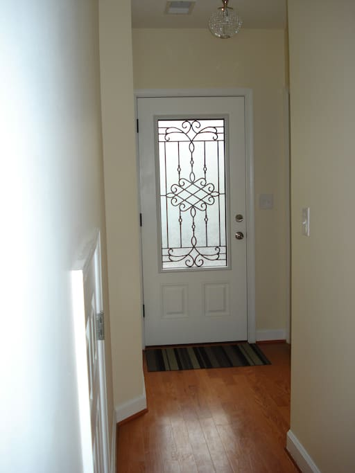 Front door from inside