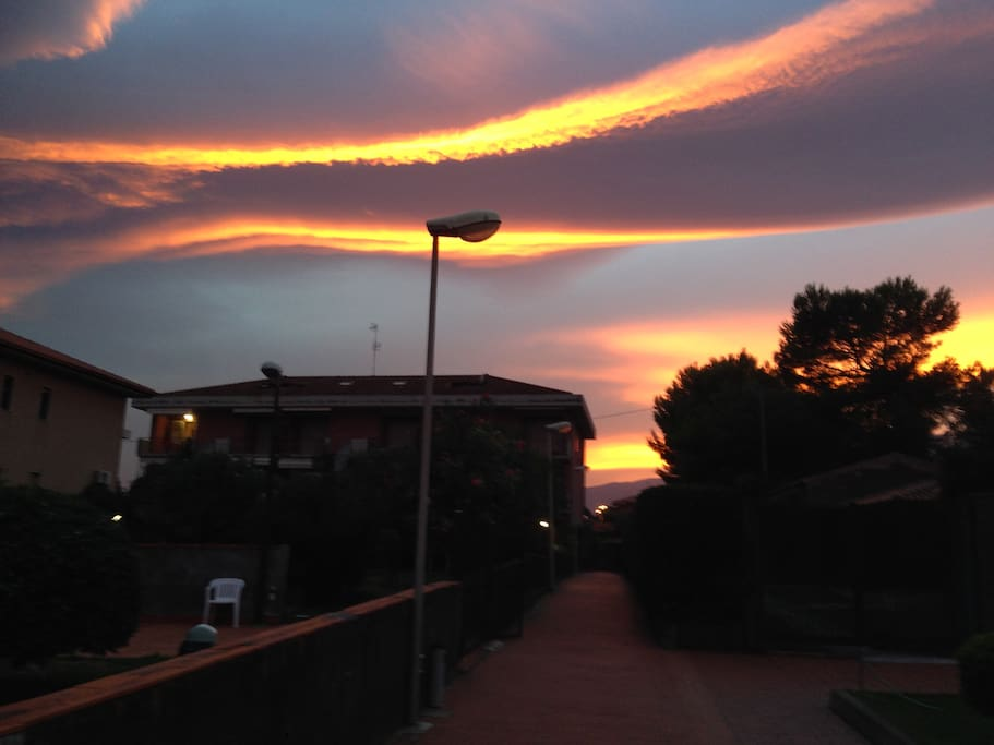 il Residence al tramonto di Settembre