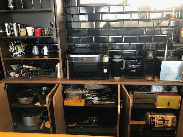 レンジ、炊飯器、キッチン用品 常備