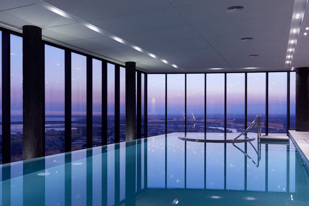 Skylounge Pool area with gym , steam room and Sauna- Top floor level 67
