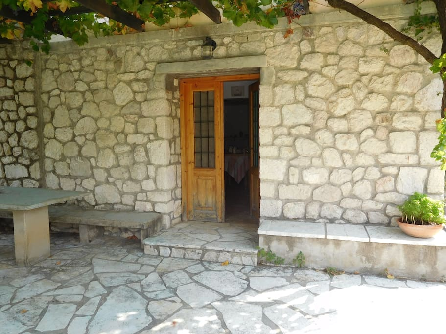This stone house is ideal for a rustic experience
