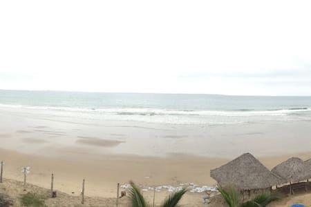 Carefree private beach cabaña.