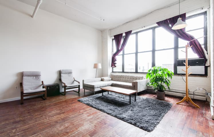 Huge, Sunny Loft in Williamsburg, Near Waterfront