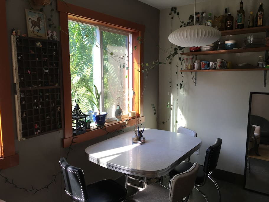 Dining Room: lovely south-facing windows to help both feed the plants and your soul!