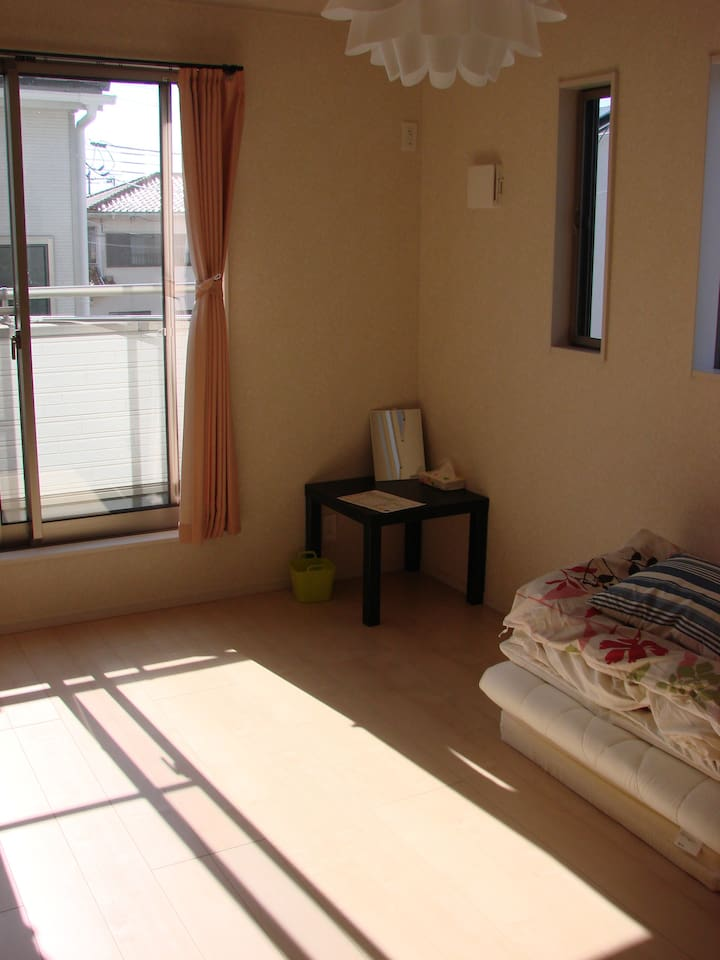 It is a bright Western-style room.
