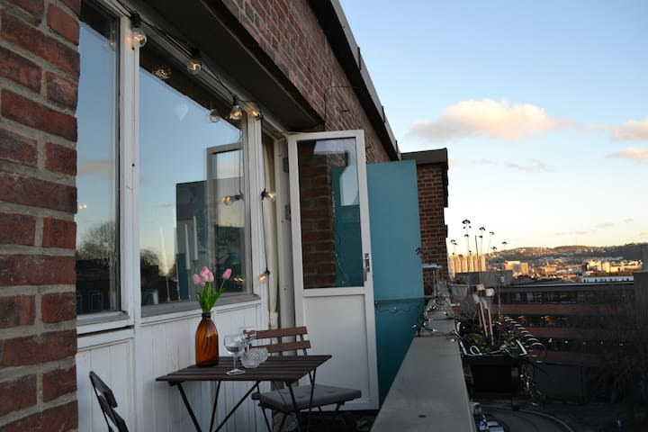 Central, trendy & quiet apt w balcony | free bikes - Oslo