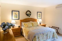 Main Level Queen Sized Master Bedroom with Ensuite Bath