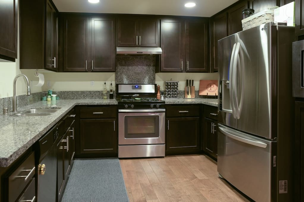 Spacious modern fully equipped kitchen