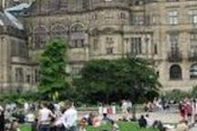 Enjoy Sheffield's Peace Gardens located in the heart of the city with water fountains, war memorials etc