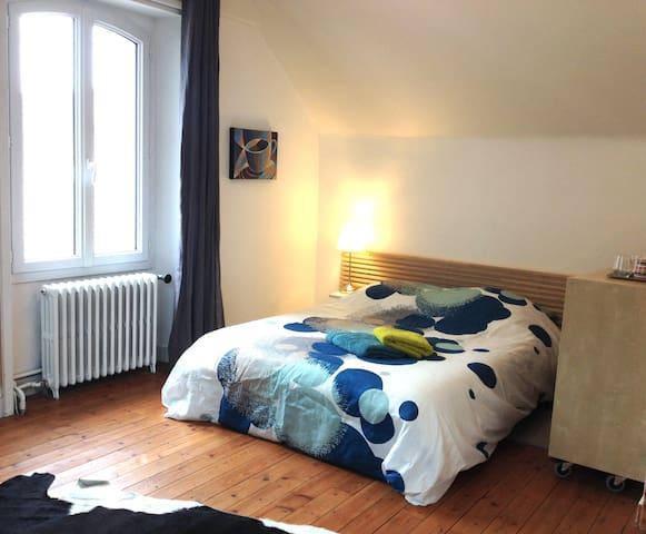 Chambre nid, SdB privée,proche gare - Rennes - Maison