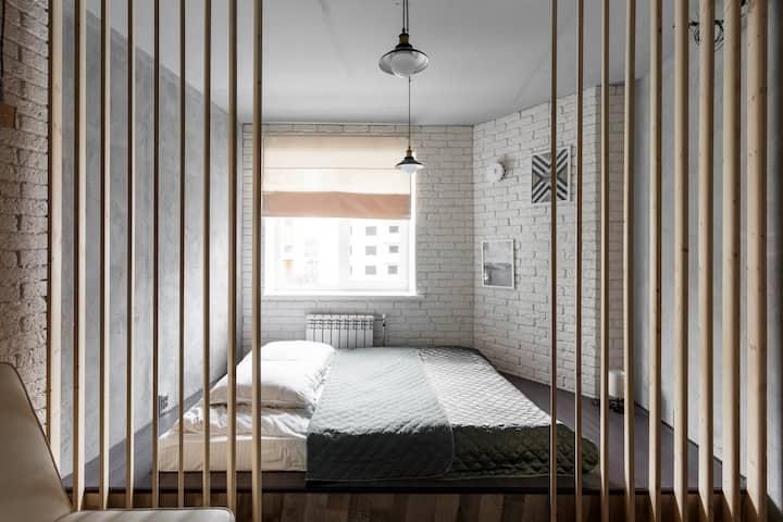 """Апартаменты """"Две Подушки"""" в стиле Лофт"""