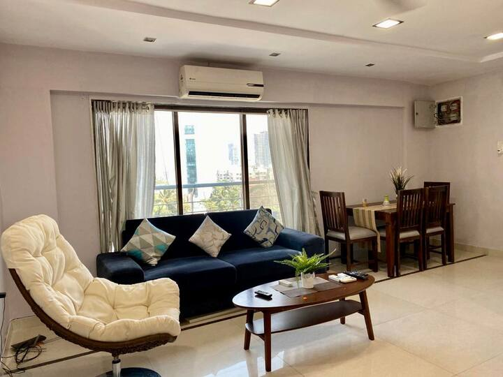 ✪ 2 BHK Condo + Parking ✪ Balcony Sea View ✪Bandra